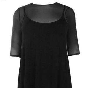 Mesh Cami Strappy Dress - Plus